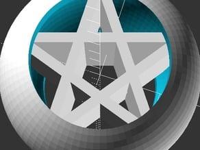Spherical pentagram