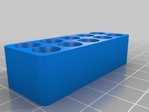 Screwdriver bit holder tray - Full customizable (OpenSCAD)