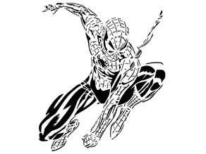 Spiderman stencil