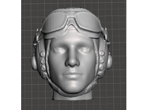 USAAF Pilot Head (Goggles Up)