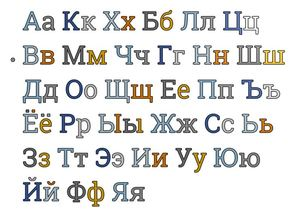 Serif Font Russian Letters 20 mm for Resizing and Scaling