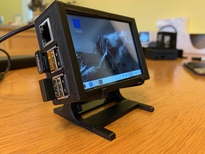 "Raspberry Pi Case and Adjustable Stand for Waveshare 3.5""_RPi_LCD_(B)"