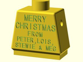 Message on your Giant Lego Minifig 'Xmas Cards' - Semi Parametric