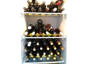 Modular wine bottle rack