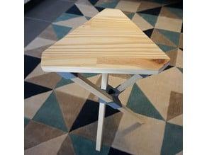 Stool wood and printed