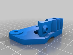 Wanhao Duplicator extruder plate Flex mod, for Microswiss
