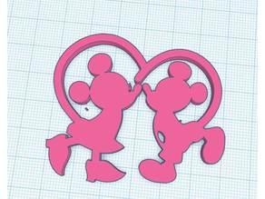 St Valentin Day's Mickey & Minnie kiss