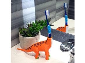 Multi-Color Dinosaur Toothbrush Holder