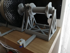 Longer Filament arms for Multiple Mechanism Auto-Rewind Spool Holder
