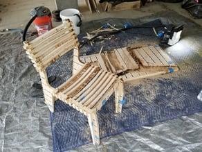 Plywood CNC Valovi Chair