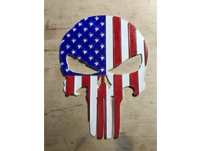 Punisher Flag Plaque