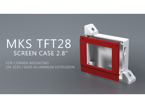 "MKS TFT28  Screen Case 2.8""  for Corner-mounting  on 3030 / 6030 aluminium extrusion"