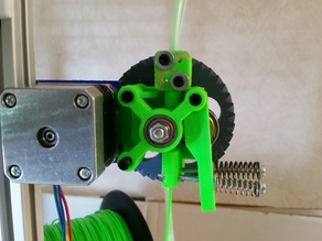 Geared bowden extruder for mk8 and flexible filament