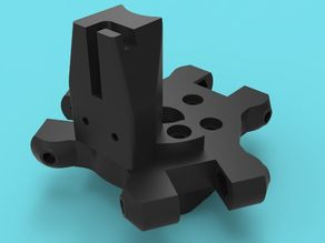 Kossel effector plate, clamp, and Z-probe mount. Multiple spacings 33.6mm, 40mm, and 42.5mm