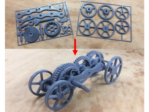Fully 3D-printable wind-up car gift card by Bribro12 - Thingiverse