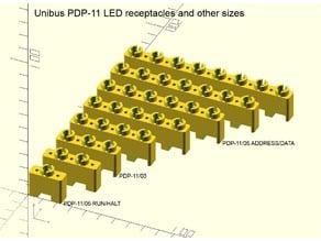 DEC PDP-11 Unibus and Qbus LED mounting receptacles