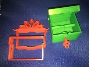 Pandora charm holder bottom for Locking Present Ornament