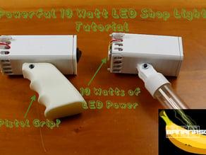 Compact 10 Watt 1,000 Lumen LED Flashlight