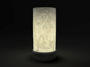 Rick And Morty cylindrical Lithophane