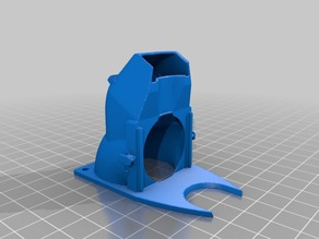 MP Select  Mini Pluggable 40mm Fan Shroud with e3d collar and bigger holes