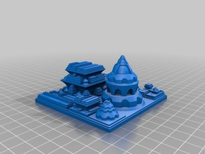My Customized Sci Fi City Builder (seed: 1987)