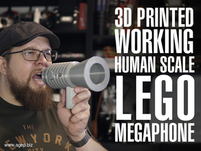 Human Scale Working LEGO Megaphone