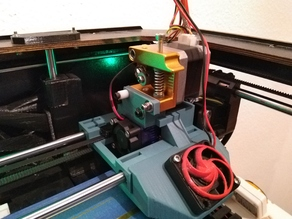 Cooling duct for Replicator e3D mount X-Axis carriage