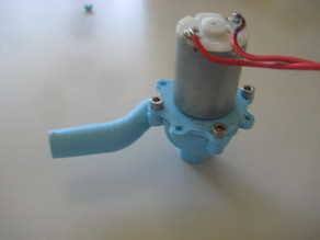 Centrifugal water pump for 2mm shaft motors