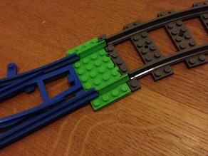 Lego Track Adapter (blue / gray-area to 9V / RC / Power Functions area tracks)
