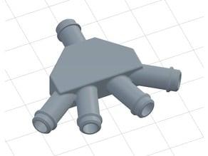 4-Way splitter 6mm