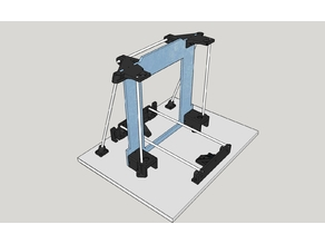 Anet A6 Z axis top plates with full M8 support