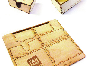 Fab Camp Self Assembly Business Card Holder