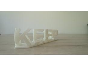 Keep Calm optical Illusion text