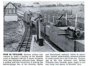 Armoured train for the RHDR light railway