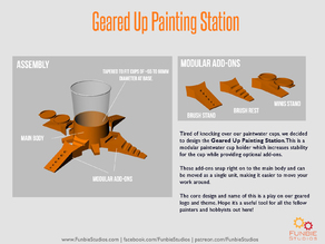 Geared Up Painting Station