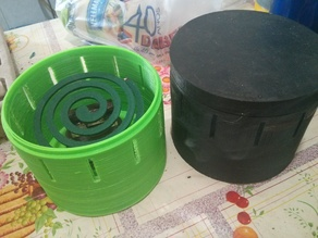 Mosquito coil support and enclosure