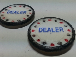 Dealer Button - Raised text