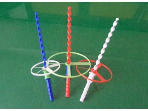 Propeller Toy with Spiral Launcher