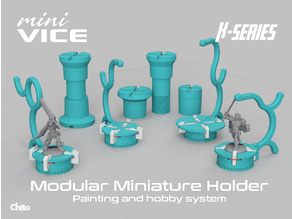 miniVICE X-Series - Modular miniature holder, painting and hobby system