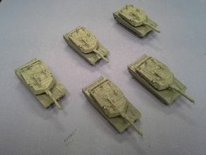 M1 Abrams with snap in turret - 1:200 scale