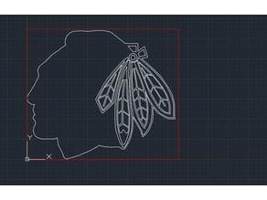 Laser Cut Black hawks Logo
