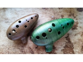 Tenor G Major (E4-C6) 12 hole Transverse Ocarina (WIP)
