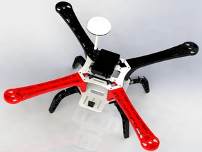 3D printed F450 type quadcopter