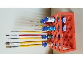 Paint & Brush Holder