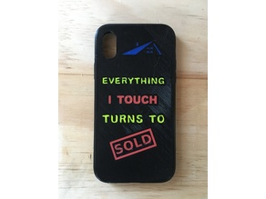 iPhone X Multi Color Case (Everything I Touch Turns to Sold)