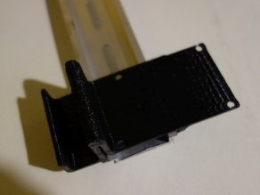 DIN rail mount for 60x40mm PCB