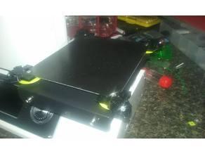 Adjustable glass bed clip + leveling system v1.1