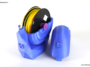 Mankati Snail Shaped Filament Container