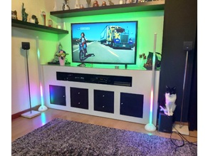 Big Vu-meter stereo from 1.20m dead led lamp