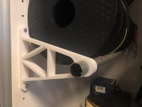Filament spool roll holder - wall mount - suitable for IKEA closets